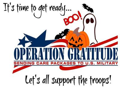 Donate Extra Halloween Candy to our Troops!